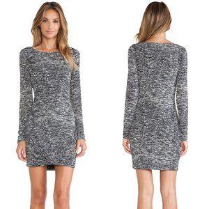 Halston Heritage Twist Drape Skirt Boatneck Dress